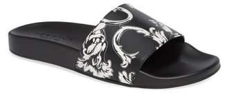 Versace Baroque Print Slide Sandal