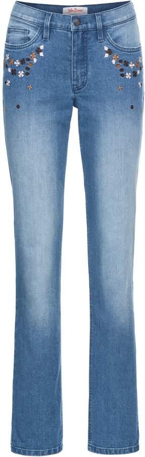 John Baner JEANSWEAR Bestickte Stretch-Jeans STRAIGHT