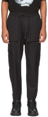 Juun.J Black Cargo Drawstring Trousers