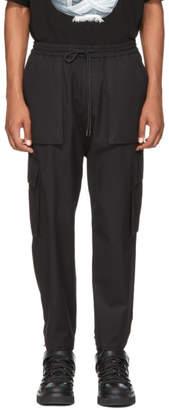 Juun.J Black Cargo Drawstring Trousers