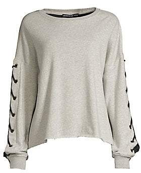Generation Love Women's Alexis Lace-Up Sleeve Sweatshirt