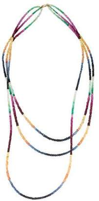 Necklace 14K Multi-Strand Sapphire Bead Necklace