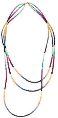 Necklace 14K Multi-Strand Sapphire Bead Necklace
