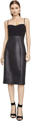 BCBGMAXAZRIA Nalia Faux-Leather Bustier Dress