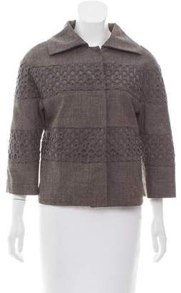 Lela Rose Boxy Crochet-Accented Jackets