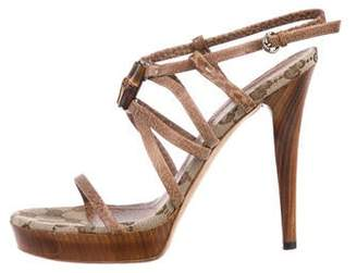 Gucci GG Leather Strap Sandals