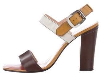 Marc by Marc Jacobs Colorblock Ankle Strap Sandals