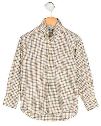 Papo d'Anjo Boys' Collared Plaid Shirt