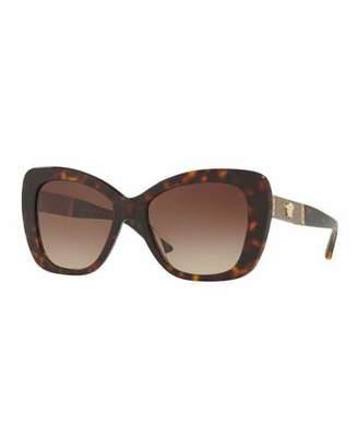 Versace Gradient Oversize Cat-Eye Sunglasses