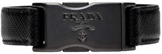 Prada Black Saffiano Press-Release Bracelet