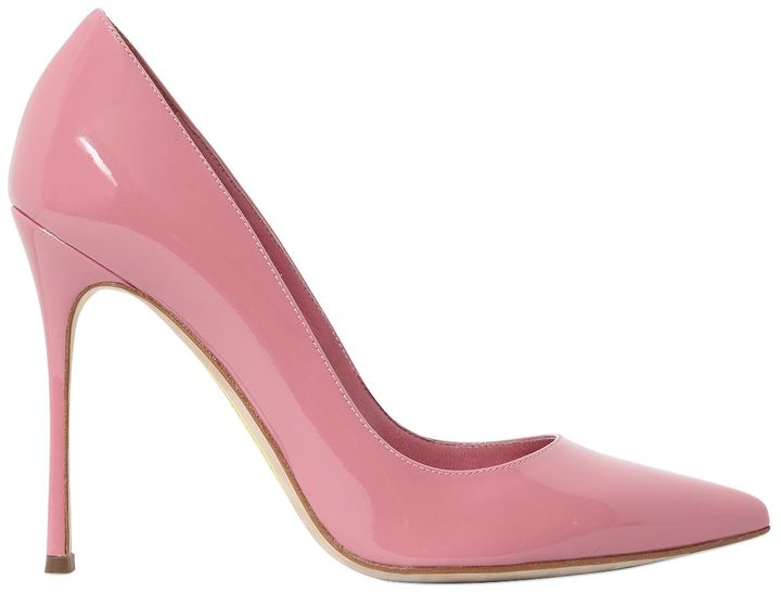 105mm Godiva Patent Leather Pumps