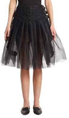 Junya Watanabe Belted Tulle Skirt $1,032 thestylecure.com
