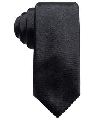 Alfani Men's Satin Solid Slim Silk Tie