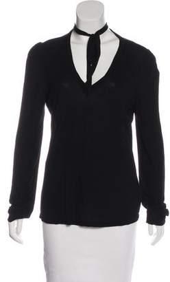 Frame Long Sleeve Knit Top