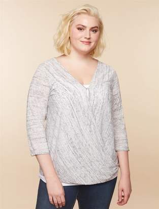 Jessica Simpson Motherhood Maternity Plus Size Pull Over 1 Button Closure Nursing Shirt