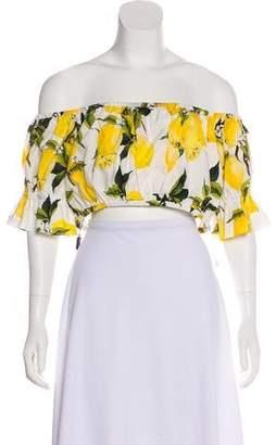 c6d815e6f8e75 Dolce   Gabbana 2016 Lemon Print Top w  Tags