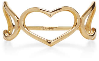 Jordan Askill Yellow Gold Triple Heart Ring