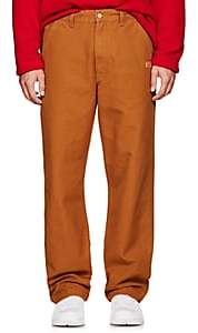 Martine Rose Napa by Men's Cotton Canvas Carrot-Leg Work Trousers - Neutral