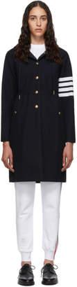 Thom Browne Navy 4-Bar Sport Parka Coat