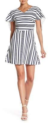 Alton Gray V-Neck Trapeze Dress