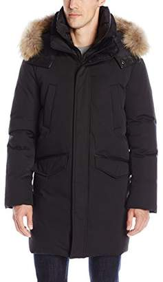 Soia & Kyo Men's Marshall Down Parka with Fur-Trimmed Hood