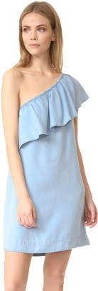 7 For All Mankind One Shoulder Dress $199 thestylecure.com