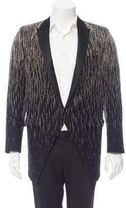 Saint Laurent Chain-Link Embellished Tuxedo Jacket