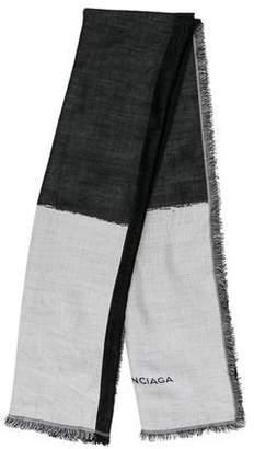 Balenciaga Knit Raw-Edge Scarf
