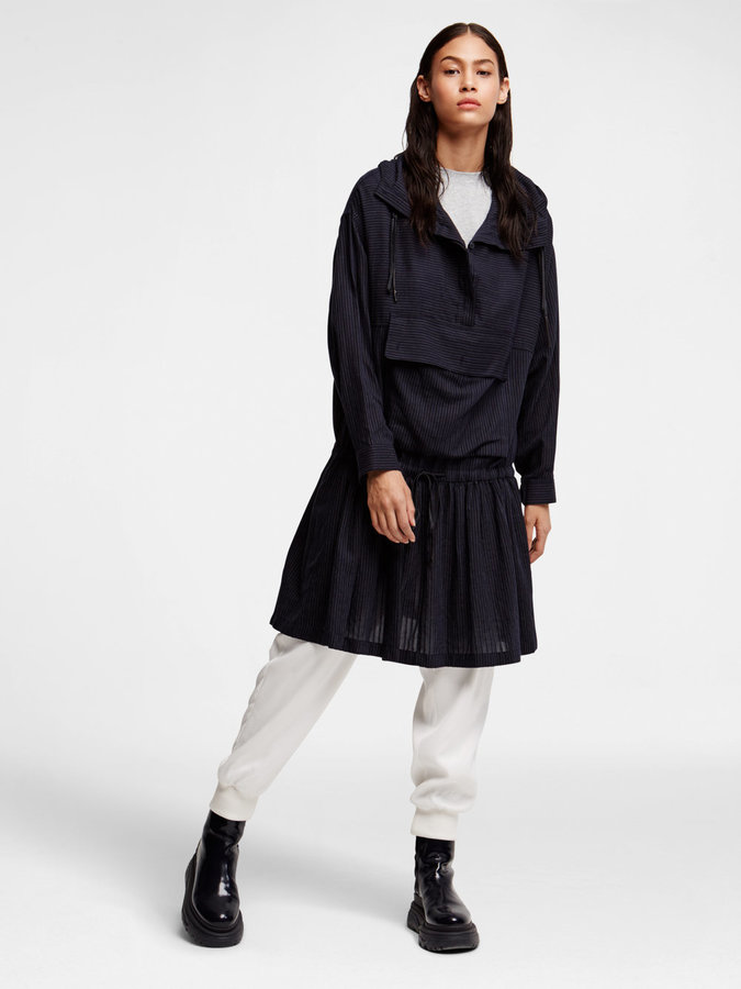DKNY Dkny Pure Hooded Shirt Dress