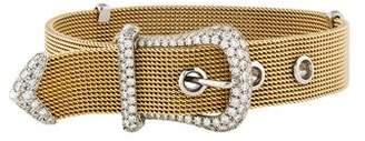 Tiffany & Co. Diamond Mesh Buckle Bracelet