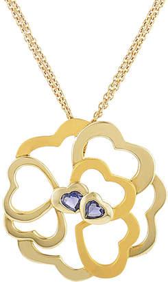 Carrera Heritage Y  Y 18K 0.64 Ct. Tw. Iolite Heart Necklace With Original Box
