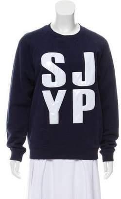 Sjyp Logo Knit Sweatshirt