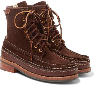 Visvim Grizzly Leather-Trimmed Suede Boots