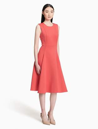 Calvin Klein scuba pocket fit + flare dress
