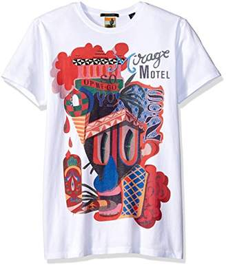 Scotch & Soda Men's Crewneck Tee with Colorful Big Artworks