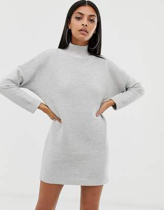 Missguided high neck knitted dress