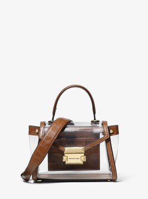 MICHAEL Michael Kors Whitney Mini Clear and Leather Satchel