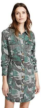 Pam & Gela Women's CAMO Shirt Dress W/Corset
