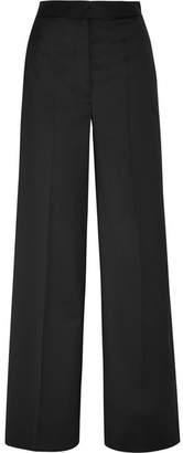 MM6 MAISON MARGIELA Faux Pearl-embellished Twill Wide-leg Pants - Black