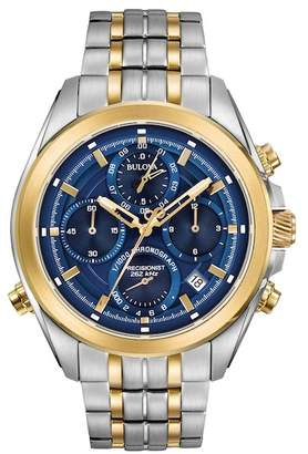 Bulova Men's Precisionist Two-Tone Bracelet Watch, 45mm