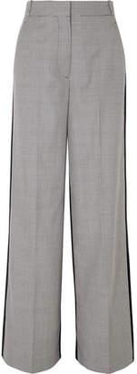 Stella McCartney Reine Houndstooth Wool-tweed And Silk-twill Pants