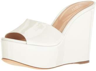 70bd8503d13 YDN Women High Heels Platform Mules Peep Toe Clogs Slip on Wedge Sandals  Slide Shoes 11