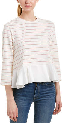 ENGLISH FACTORY 3/4-Sleeve Top