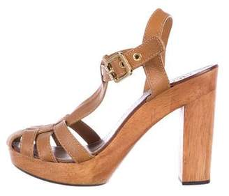 Tory Burch Leather Platform Sandals