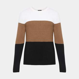 Theory Merino Color-Blocked Sweater