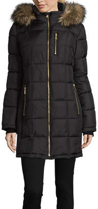 Liz Claiborne Woven Water Resistant Heavyweight Puffer Jacket