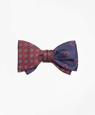 Brooks Brothers Horseshoe Link with Herringbone Starburst Reversible Bow Tie