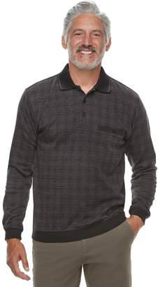 Men's Safe Harbor Regular-Fit Jacquard Banded-Bottom Polo