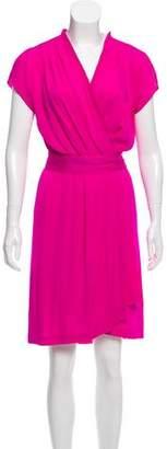Diane von Furstenberg Draped Silk Dress