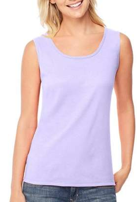 Hanes Women's Mini-Ribbed Cotton Tank Top